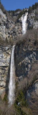 The Seerenbachfall is with 305 Meters the highest water fall in Switzerland